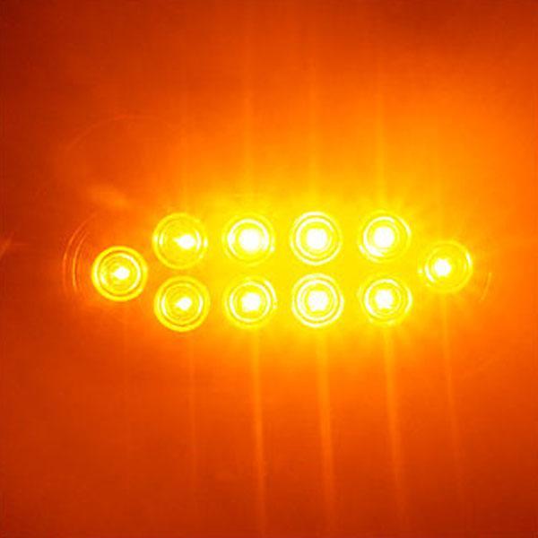 12V용 2WAY 타원형 LED테일라이트-옐로우색상