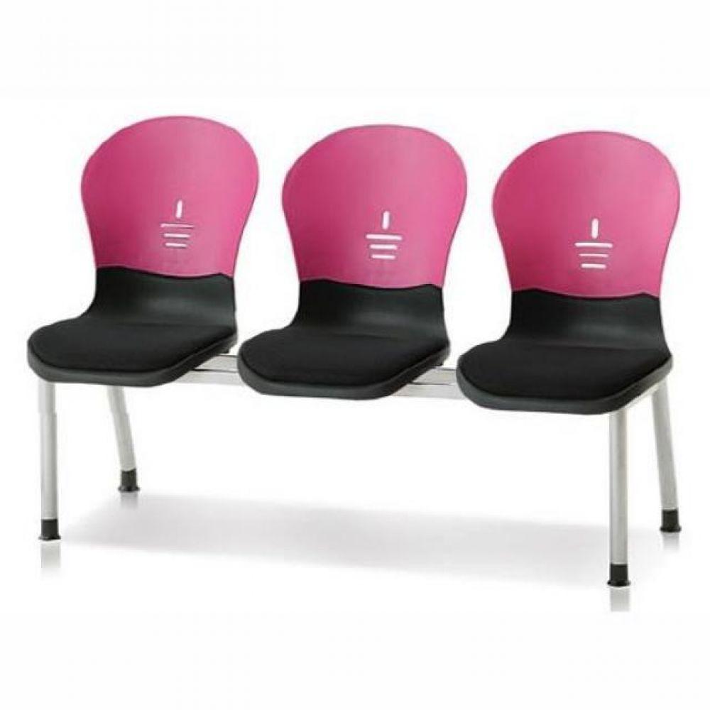 3인용 연결의자 테트라(사출-인조가죽) 601 로비의자 휴게실의자 대기실의자 장의자 3인용의자 2인용의자 약국의자 대합실의자