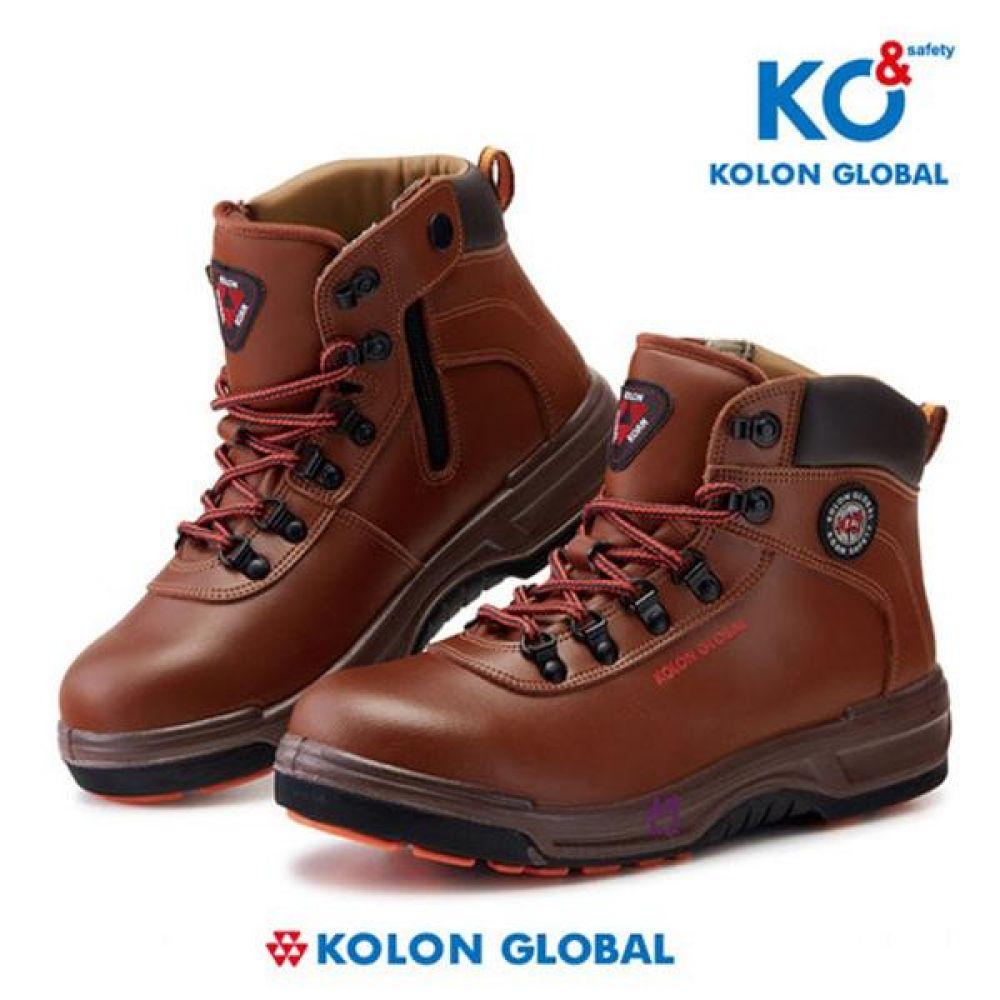 코오롱글로벌 KG-614 6in 보통작업용 중단화 안전화 안전화 KOLONGLOBAL 코오롱글로벌 가죽안전화 지퍼안전화 지퍼타입 인젝션안전화