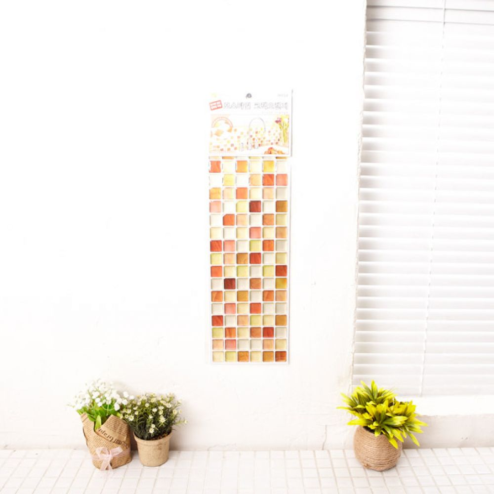 보스타일 크랙 오렌지 인테리어 스티커벽지 시트지 시트지 타일 스티커벽지 벽시트지 인테리어