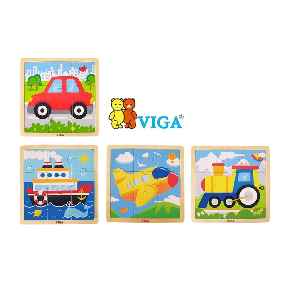 선물 2세 유아 장난감 9피스 직소 퍼즐 교통 4종세트 퍼즐 블록 블럭 장난감 유아블럭
