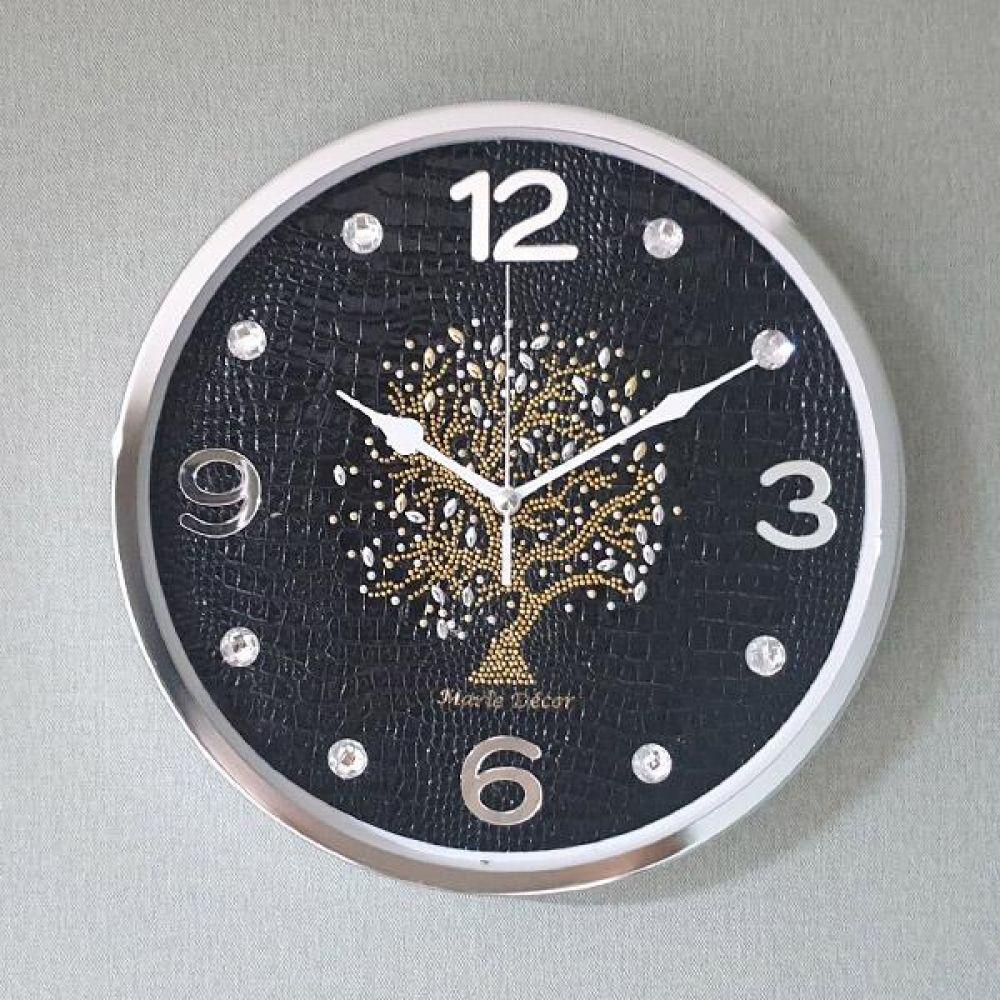 행운나무 무소음 벽시계 (블랙) 벽시계 벽걸이시계 인테리어벽시계 예쁜벽시계 인테리어소품