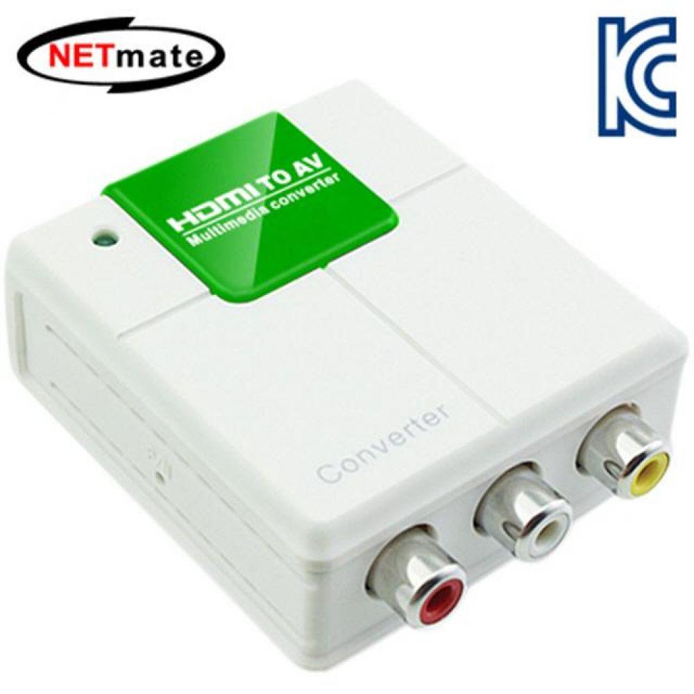 넷메이트 HDMI to AV 컴포지트 컨버터 NTSC PAL 컴퓨터용품 PC용품 컴퓨터악세사리 컴퓨터주변용품 네트워크용품 dp케이블 모니터케이블 hdmi연장케이블 hdmi젠더 hdmi단자 랜젠더 무선수신기 dvi케이블 hdmi연결 파워케이블