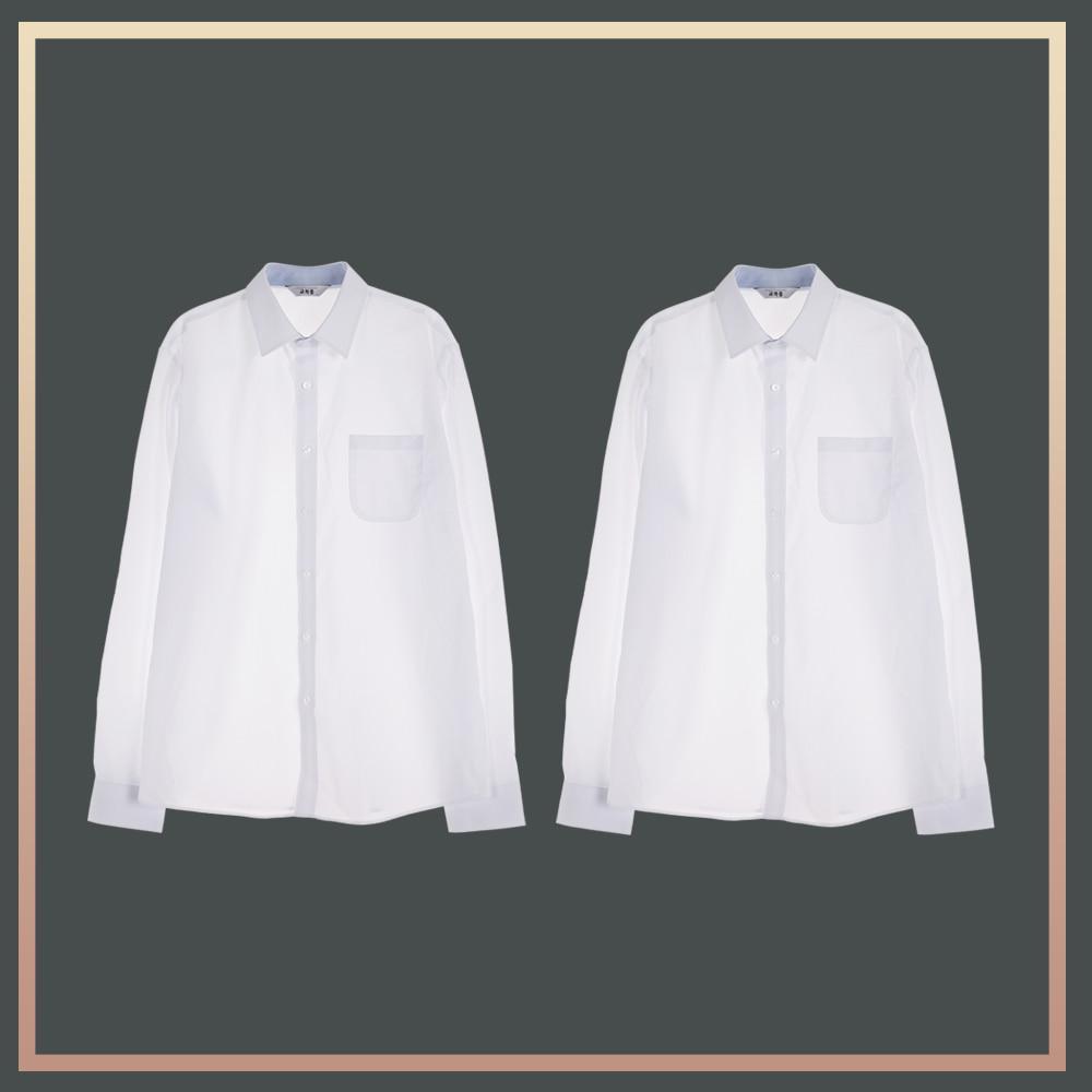 (빅사이즈)남성 밝은 블루 프리미엄 셔츠 1플러스1 교복셔츠 교복 교복쇼핑몰 교복와이셔츠 남자교복 학생복 교복남방 교복블라우스 여자교복 고등학교교복