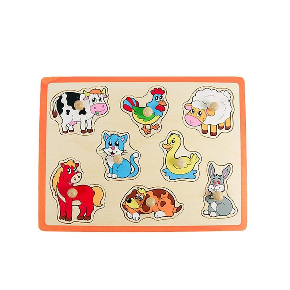선물 유아 어린이 놀이 꼭지 퍼즐 동물 아이 장난감 퍼즐 블록 블럭 장난감 유아블럭