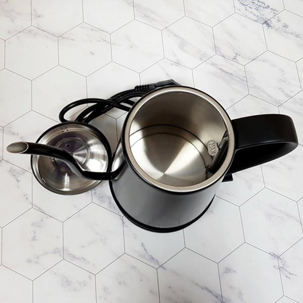 블랙 드립포트 1L 리카 멀티주전자 커피포트 멀티포트 물끓이는포트 멀티주전자 전기포트 주방가전 포트