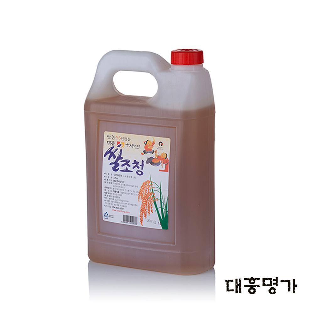 쌀조청 4.7kg 쌀엿 조청물엿 물엿대신 전통조청 물엿 전통조청 물엿 쌀엿 조청물엿 물엿대신