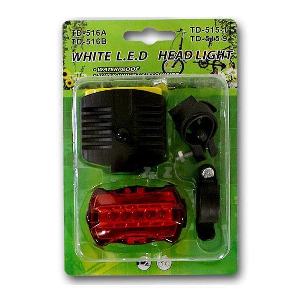 몽동닷컴 자전거 LED 등세트 안전등 후미등 야간 자전거라이트 전조등 안전등 후방등 레져