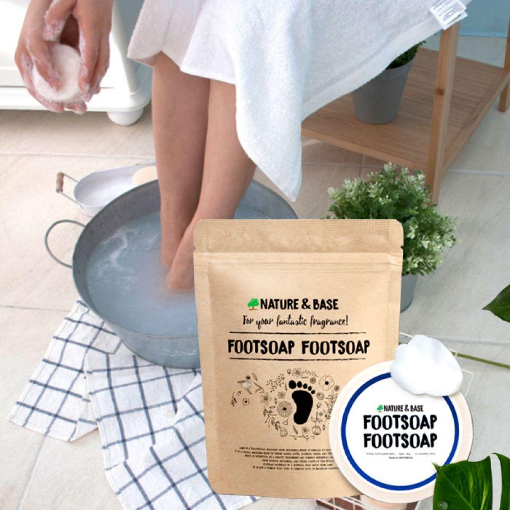 네이처앤베이스 발냄새제거 자무 비누 풋솝풋솝 5EA 천연 샤워 목욕 세정 바디 뷰티 스킨 입욕 족욕