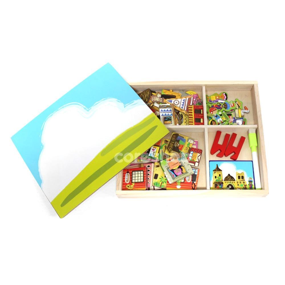 선물 학습 놀이 유아 유아원 나라별 집짓기 퍼즐 아이 퍼즐 블록 블럭 장난감 유아블럭