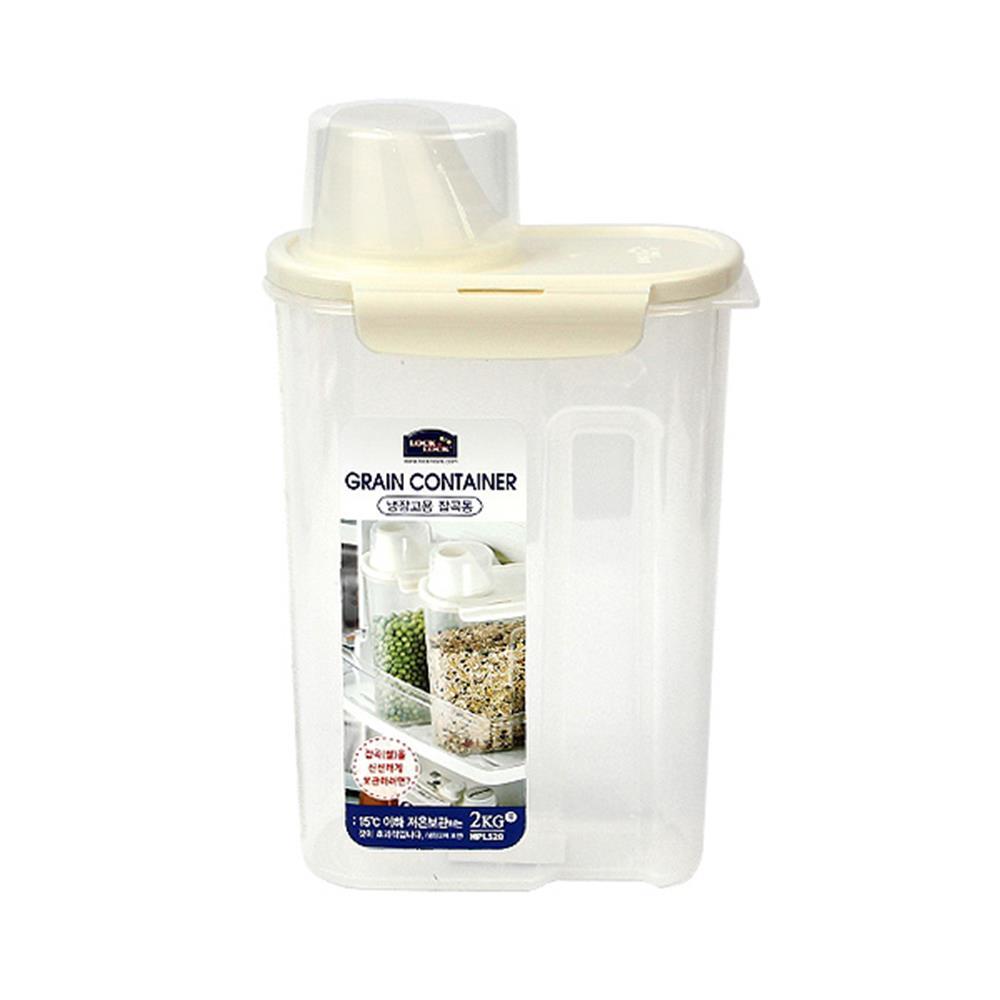 잡곡통 스페셜 도어포켓 2.4L 계량쌀통 쌀보관통 쌀통 쌀통 쌀보관통 잡곡통 밀봉 계량쌀통
