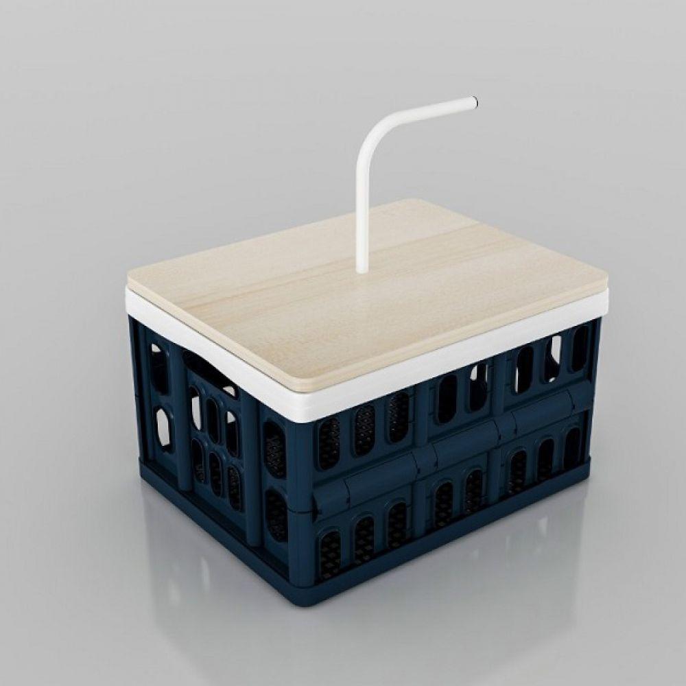SV 다용도 폴딩수납함 손잡이 테이블 다용도수납함 수납바구니 접이식테이블 캠핑바구니 수납정리