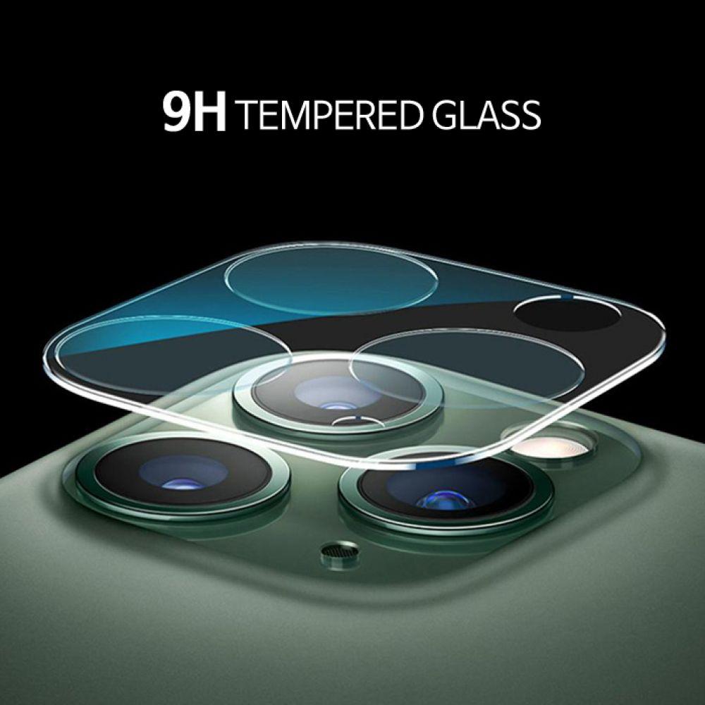 UB 아이폰11 Pro 렌즈 풀커버 클리어 강화유리 필름 카메라렌즈 보호캡 렌즈보호 스크래치방지 휴대폰렌즈