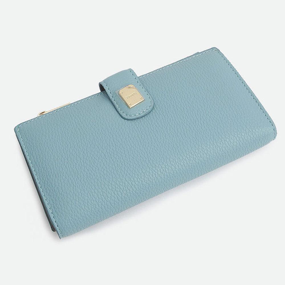블루 여자 장식 장지갑 지퍼 지갑 핸드폰 수납 장지갑 여자장지갑 여성장지갑 지갑 여학생지갑