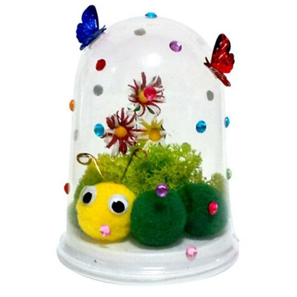 스칸디아모스 봄동산 애벌레 만들기 봄 동식물 어린이집만들기 유치원만들기 만들기수업 만들기재료