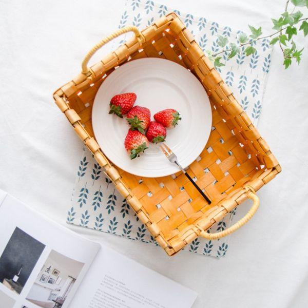 천연 대나무 라탄 바구니 소품바구니 빵바구니 빵집바구니 밀짚바구니 라탄박스