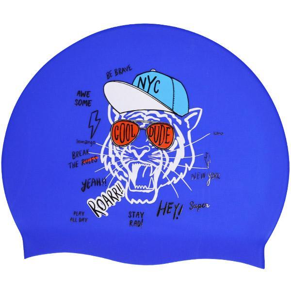 Kano-Blue르망고 실리콘수모 수영모자 수영용품 수영모 수중운동용품 디자인수영모