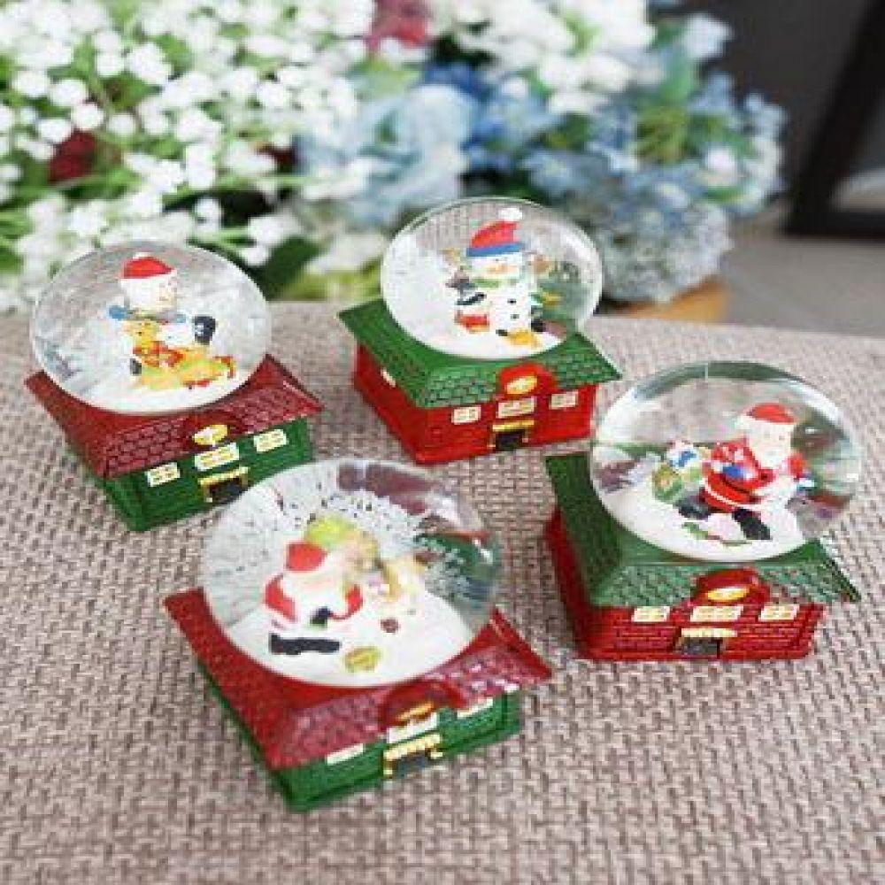 크리스마스 하우스 미니 워터볼 (소) 12P 크리스마스소품 크리스마스장식품 장식소품 인테리어소품 산타소품 눈사람소품
