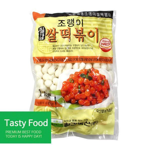(냉장)칠갑농산 조랭이쌀떡볶이1kgX10개 분식 조랭이 쌀떡볶이 식자재 식품