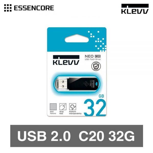 KLEVV USB 2.0 메모리 32GB USB메모리 휴대용 USB 외장 메모리