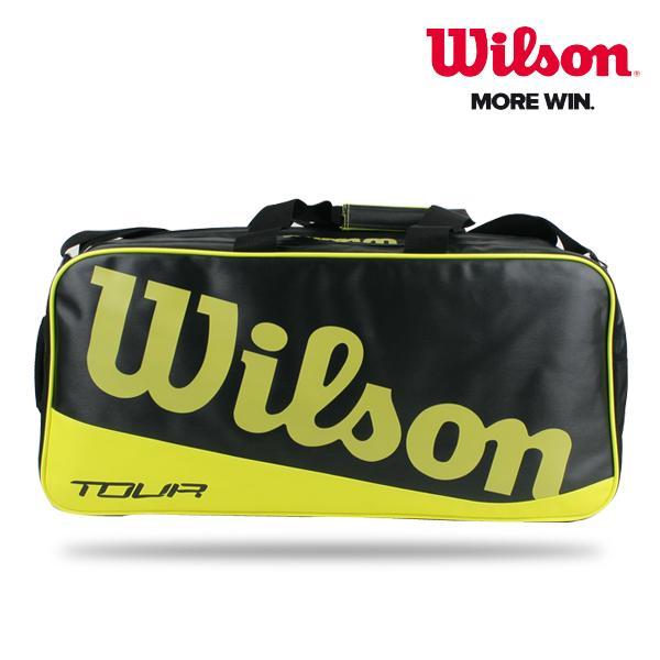 윌슨 투어 렉탕글3 배드민턴가방 - WRR614400 블랙/라임 배드민턴 배드민턴가방 가방 라켓가방 윌슨