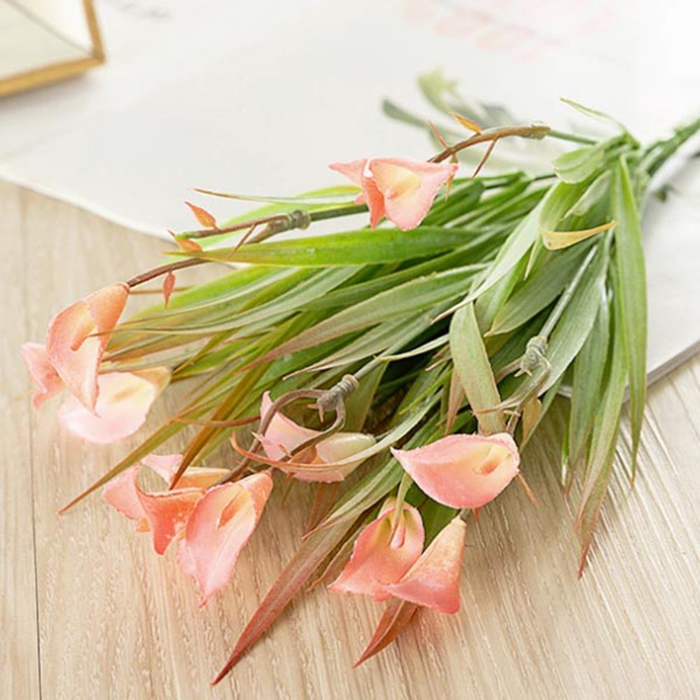 핑크 조화부쉬 난초 장식소품 인테리어 인테리어소품 조화꽃다발 꽃장식 인조꽃 인테리어 조화꽃