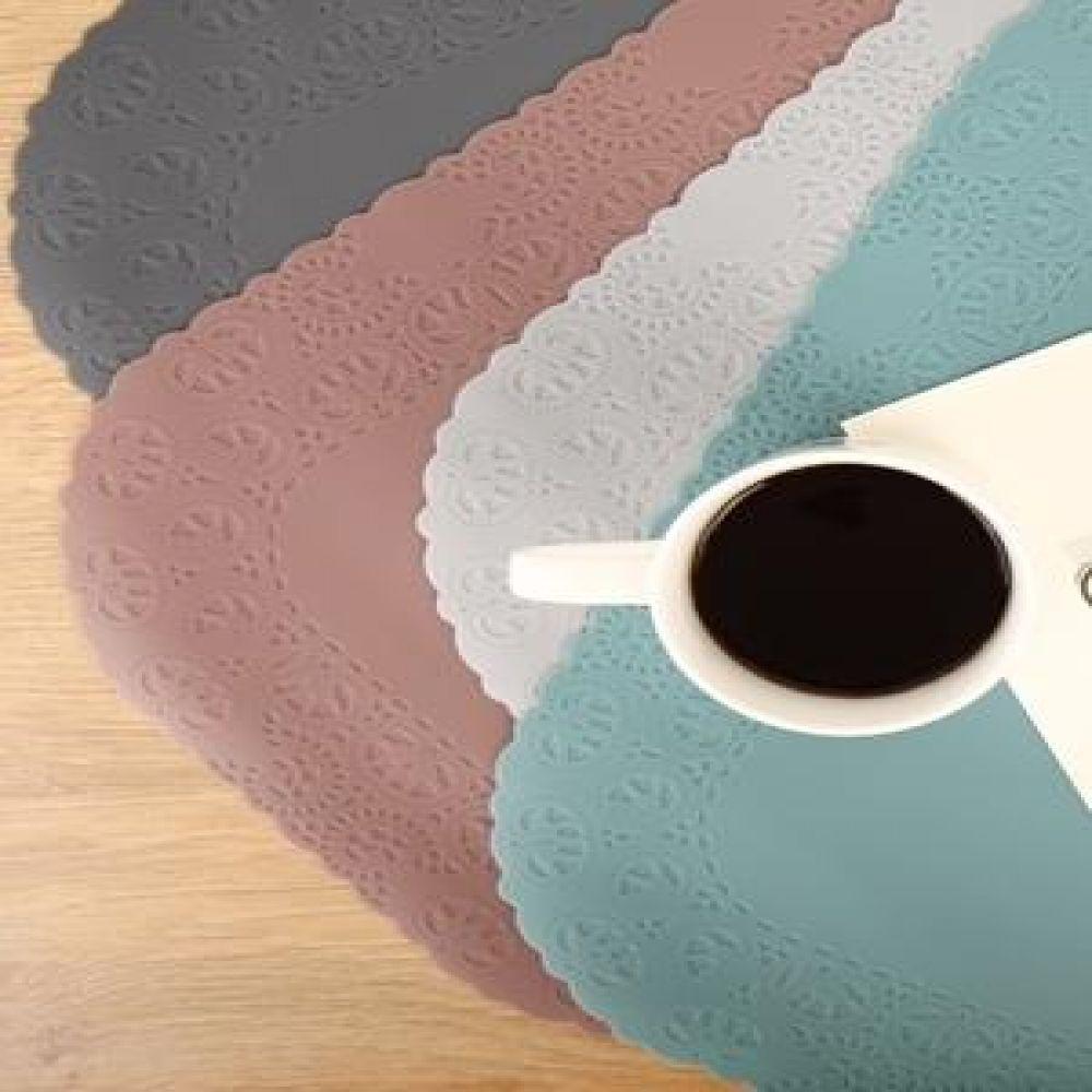 파스텔 실리콘 레이스 식탁매트 4colors 주방용품 주방소품 테이블장식 테이블소품 식탁매트