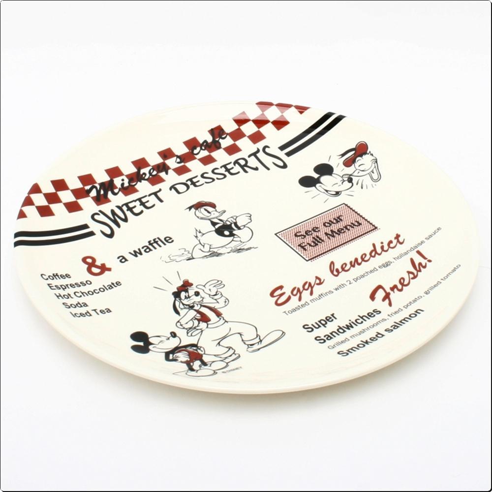 미키마우스 카페 멜라민 원형접시24cm(일)(277450) 캐릭터 캐릭터상품 생활잡화 잡화 유아용품