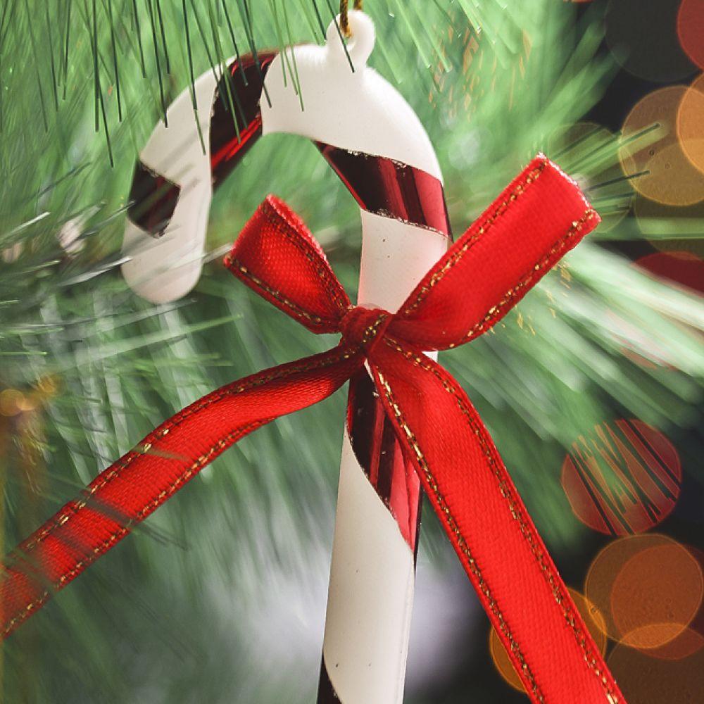 MWSHOP 6p 지팡이 장식 츄리 크리스마스 미니츄리장식 용품 엠더블유샵