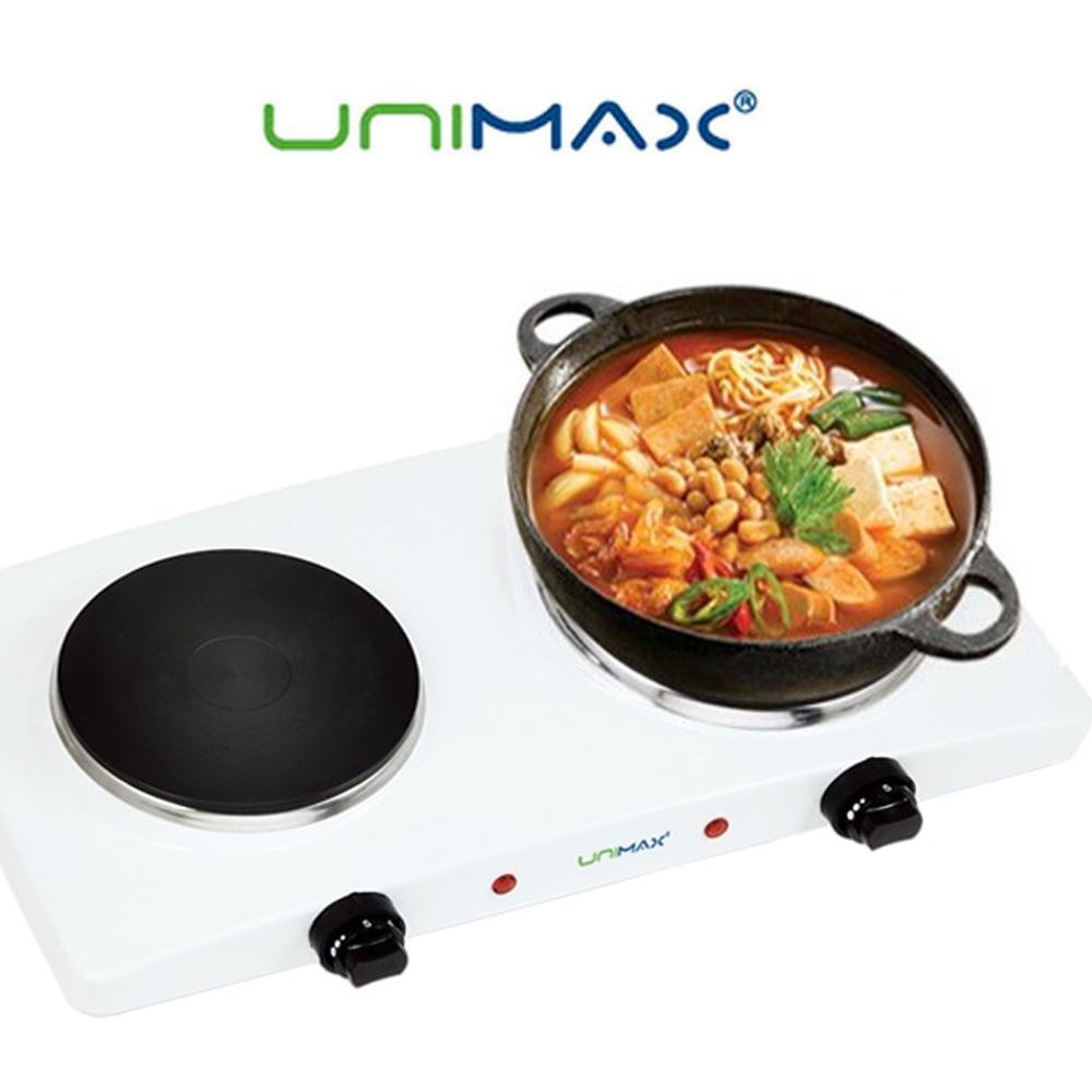 유니맥스2290 스마트 2구 핫플레이트 플레이트 핫플레이트 휴대용 렌지 전기랜지