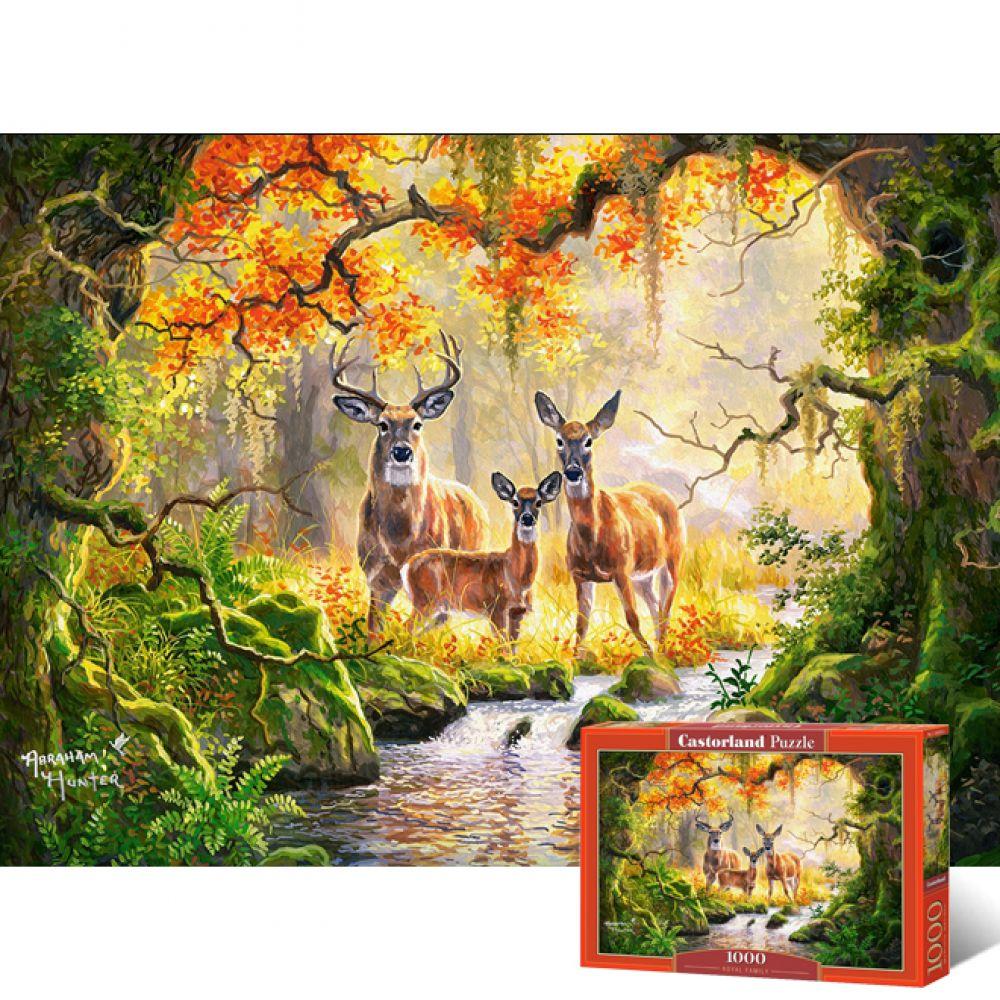 1000피스 직소퍼즐 - 사슴가족 (LD104253) 직소퍼즐 퍼즐 퍼즐직소 일러스트퍼즐 취미퍼즐