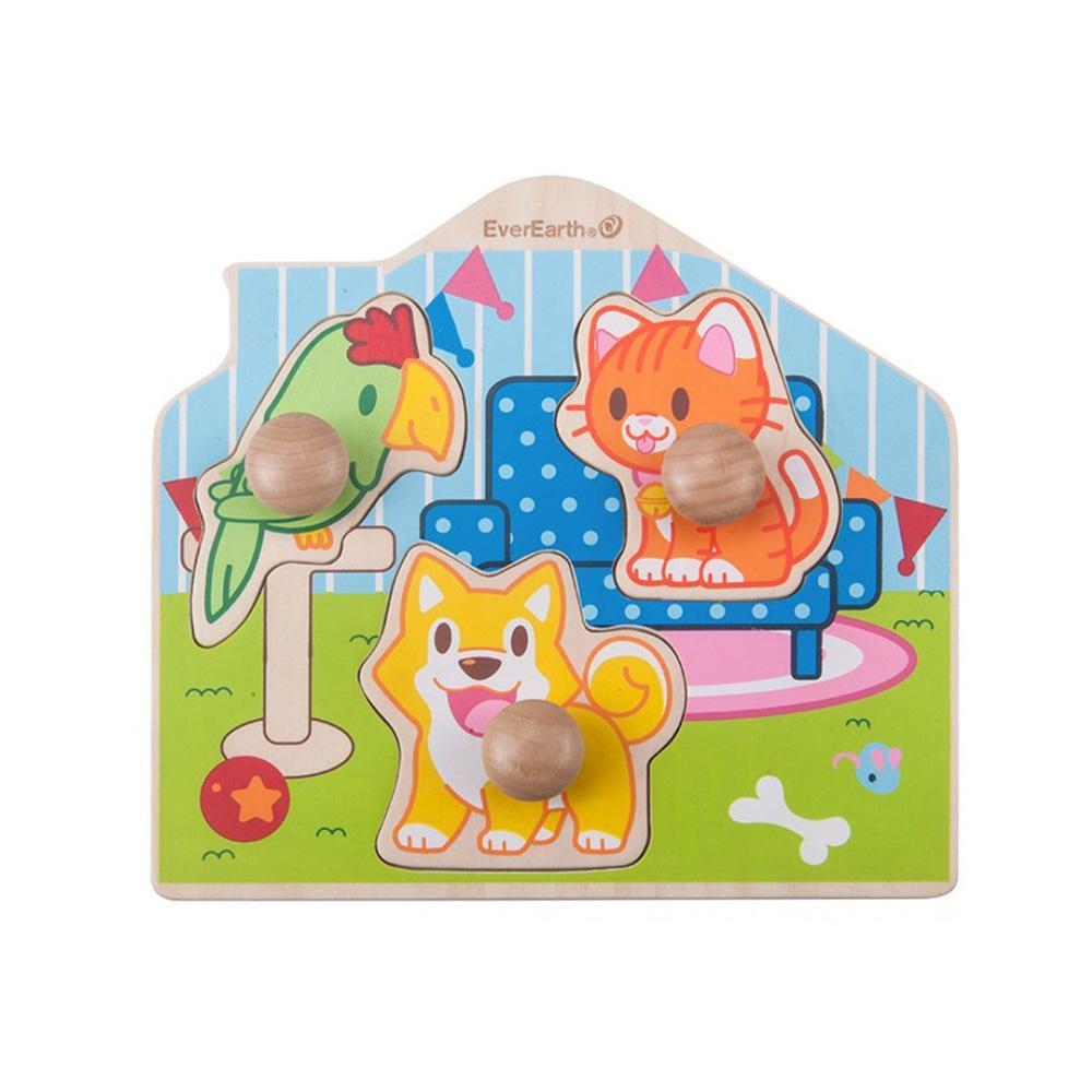 동물 장난감 어린이 교육 놀이 완구 점보 꼭지 퍼즐 유아원 장난감 2살장난감 3살장난감 4살장난감