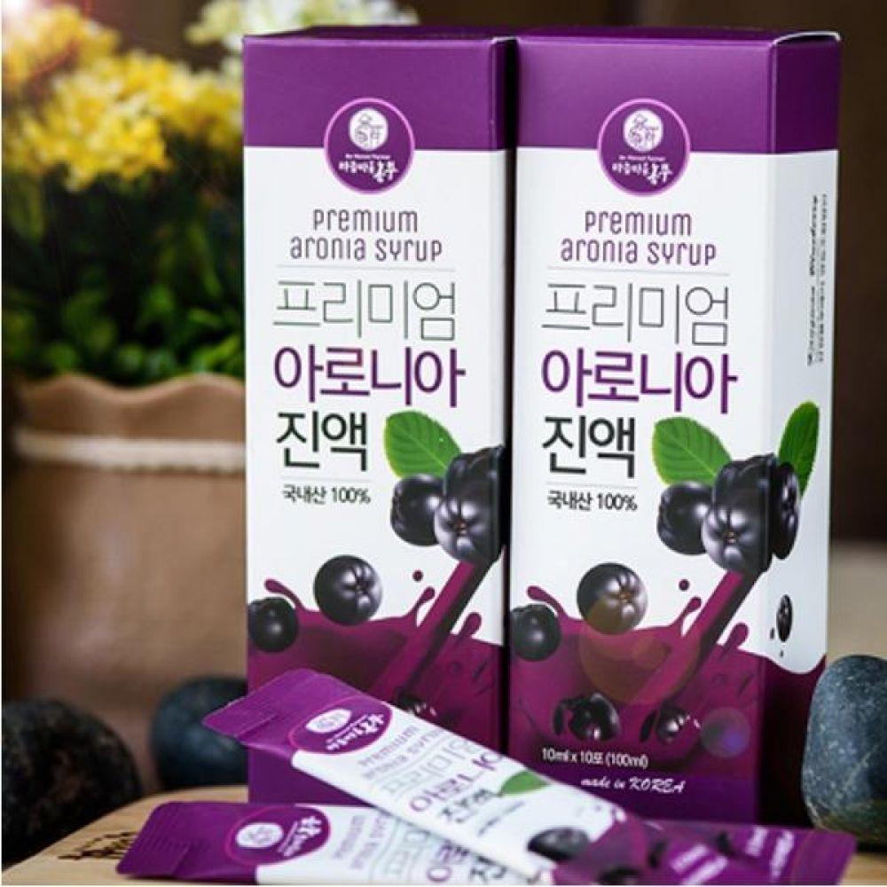 프리미엄 아로니아 진액 10ml x 30개 스틱포장 설탕 보존료 착색료 착향료 무첨가 식품 농축산물 건강 건강액기스 아로니아