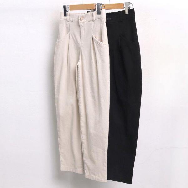 미시옷 3959L812 일자 배기 기모 팬츠 MD 빅사이즈 여성의류 빅사이즈 여성의류 미시옷 임부복 배기핏핀턱면팬츠E60