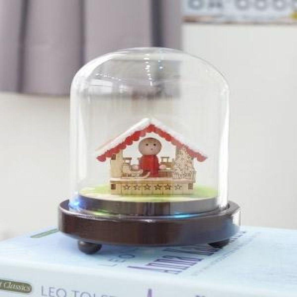 크리스마스 하우스 유리돔 LED 오르골 인테리어소품 오르골소품 장식소품 크리스마스소품 홈데코