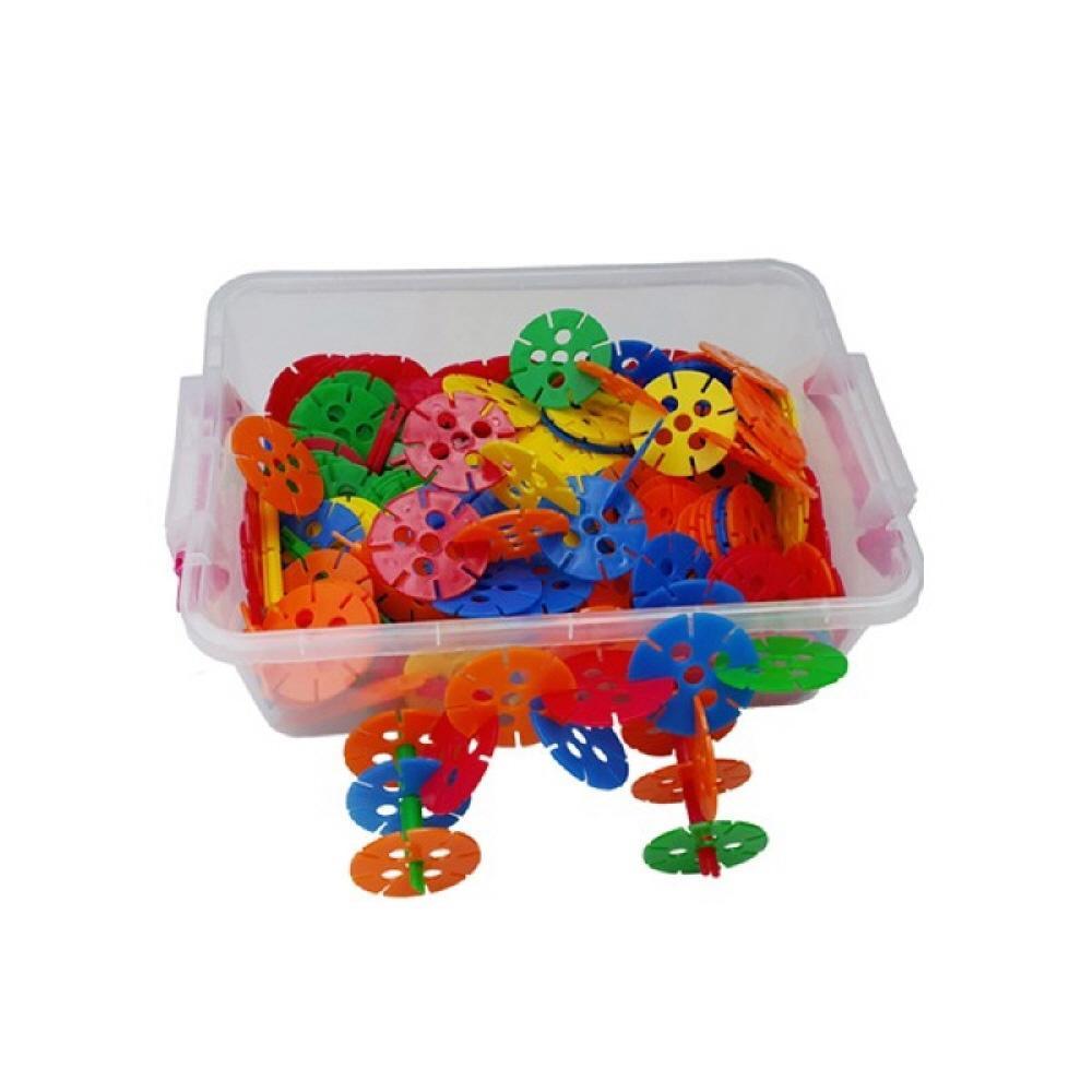선물 유아 만들기 장난감 블록 왕꽃잎 블럭 리빙 박스 퍼즐 블록 블럭 장난감 유아블럭