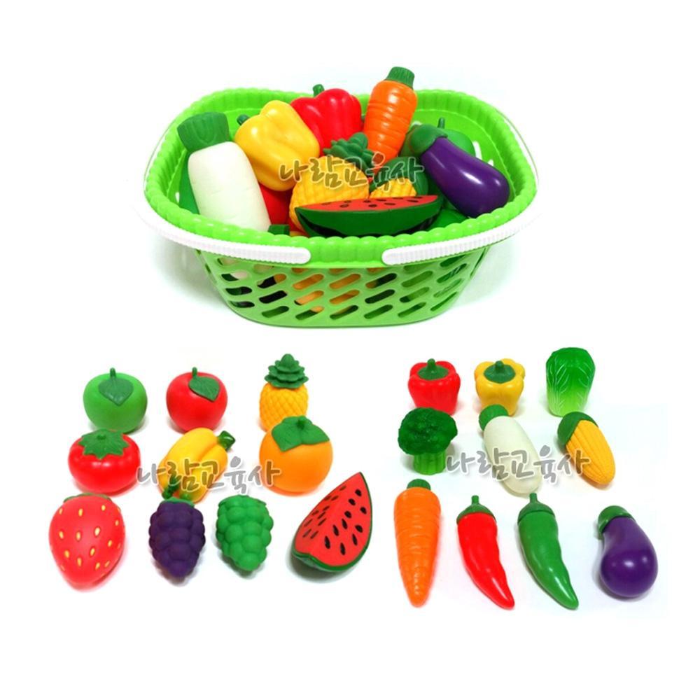 완구 소프트 과일 야채 20종 어린이집 유아 놀이 학습 완구 어린이집 유아원 초등학교 장난감