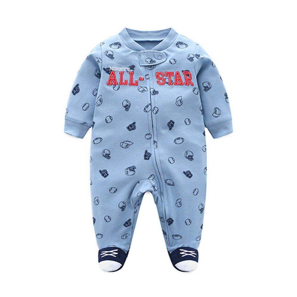 올 스타 럭비 야구 우주복(3-18개월) 300190 아기우주복 롬퍼 백일옷 아기옷 유아옷 신생아옷 발싸개 유아복 돌복 실내복