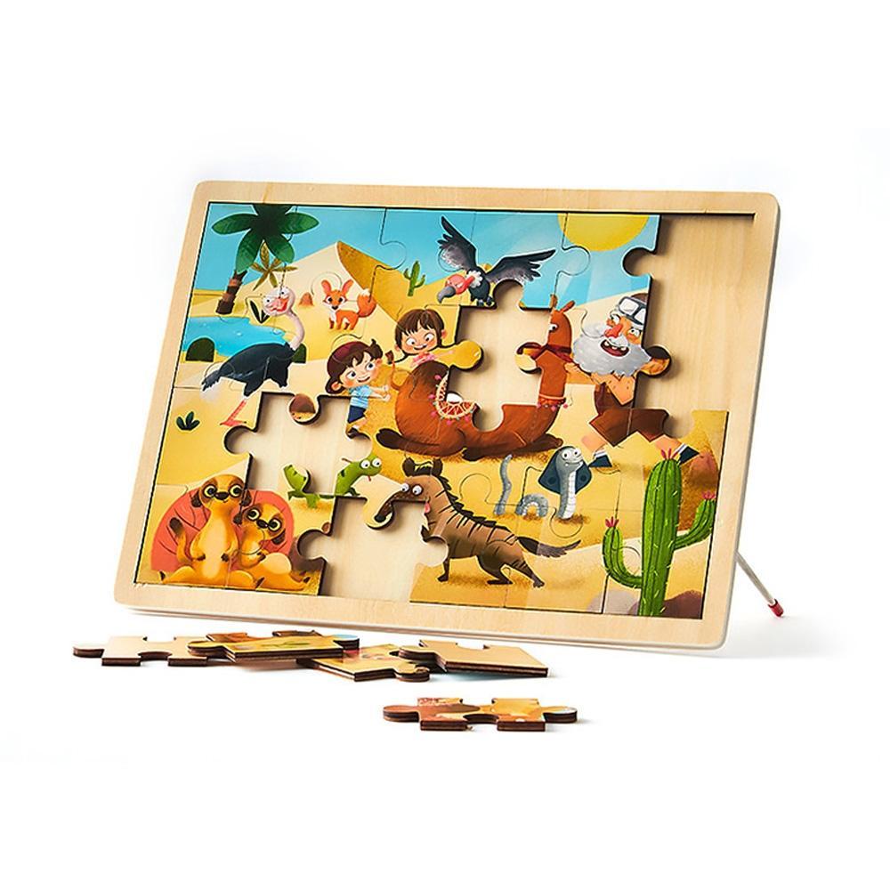 선물 유아 학습 아동 놀이 사막탐험 직소 퍼즐 24pcs 퍼즐 블록 블럭 장난감 유아블럭