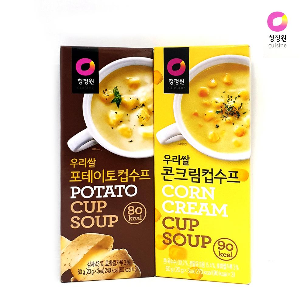 청정원 우리쌀 스프/ 포테이토 콘크림/ 간편 스틱수프 스프 돈가스 간편식 간식 컵수프