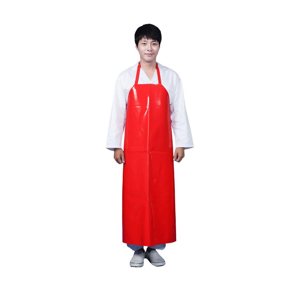 업소용 식당 양면 주방 방수 앞치마 목걸이형 빨강 L 방수앞치마 주방앞치마 식당앞치마 목걸이형앞치마 앞치마