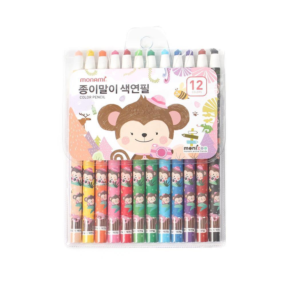 12색 핑크 종이말이 색연필 미술용색연필 고급색연필 색연필 컬러링색연필 미술준비물 고급색연필 미술용색연필