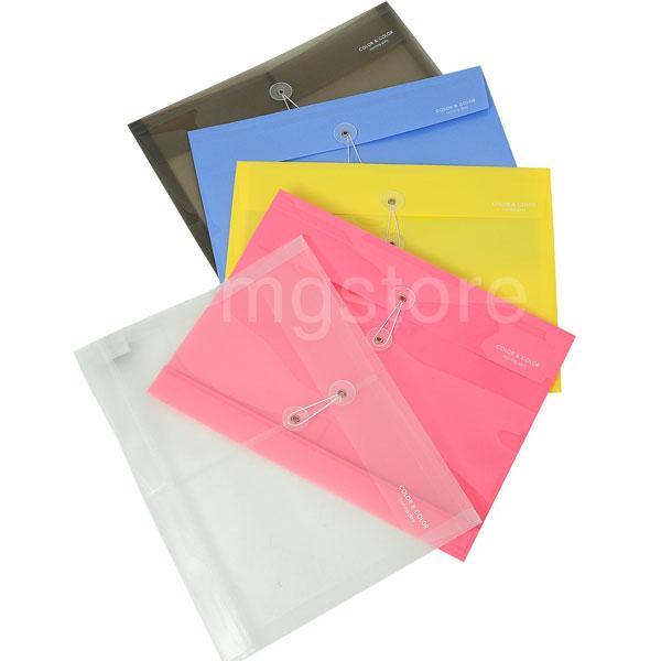 1000 컬러 봉투화일(가로형) X 6ea 모닝글로리 파일 봉투화일 레일화일 디자인화일