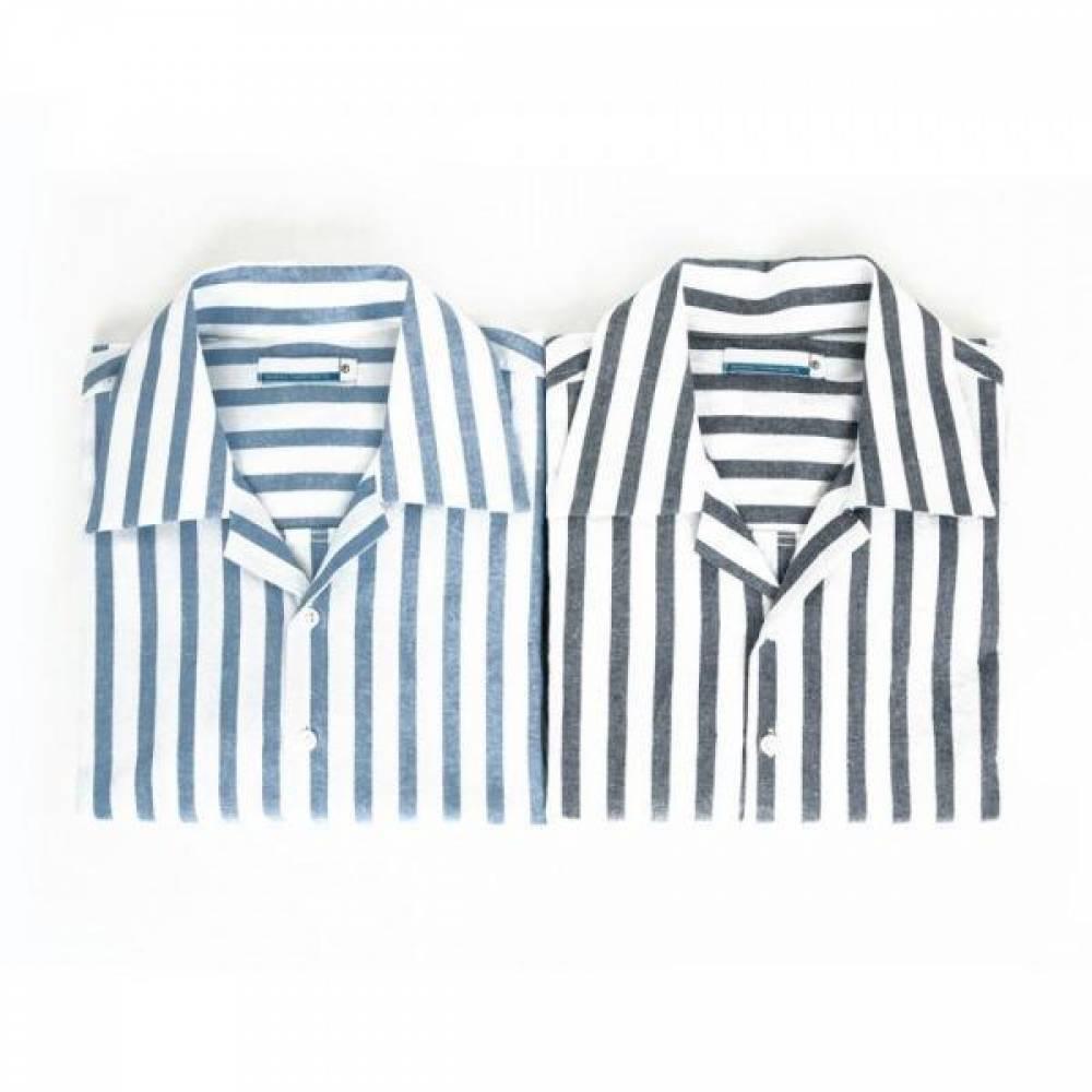 남자셔츠 썸머 스트라이프 셔츠 Z0416006