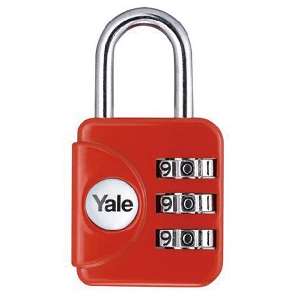예일 멀티코드락 라운드 열쇠(빨간색) 사무용품 사무실 보관 사물함 자물쇠 라커룸 락커룸