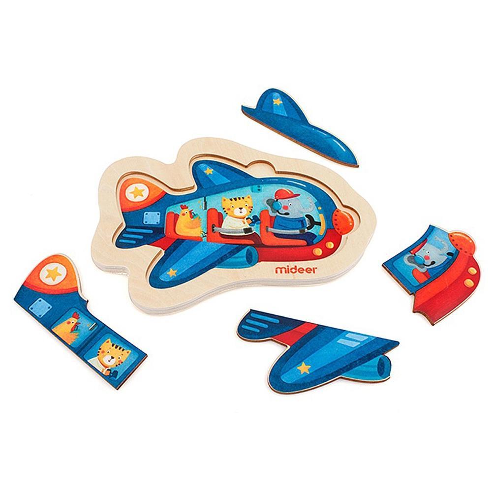 교구 2살 2세 유아 미니 퍼즐 비행기 4P 어린이 학습 퍼즐 어린이교구 창의교구 아동퍼즐 창작놀이