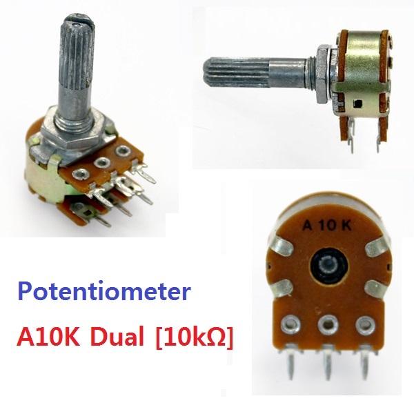 Dual A10k A커브 가변저항 오디오 가변저항 10k 옴 가변저항 A커브 10k옴 오디오 audio A10K 볼륨가변저항