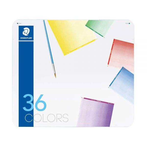스테들러 노리스클럽 수채색연필 36색 메탈케이스