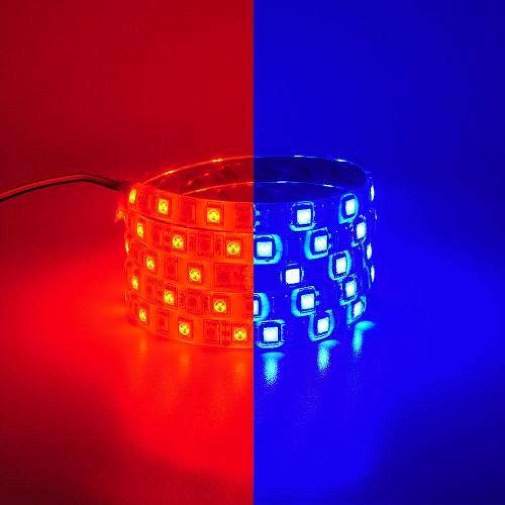 12V용 플렉시블 LED바 6cm 레드-블루LED 2컬러 브레이크숨쉬기모듈포함