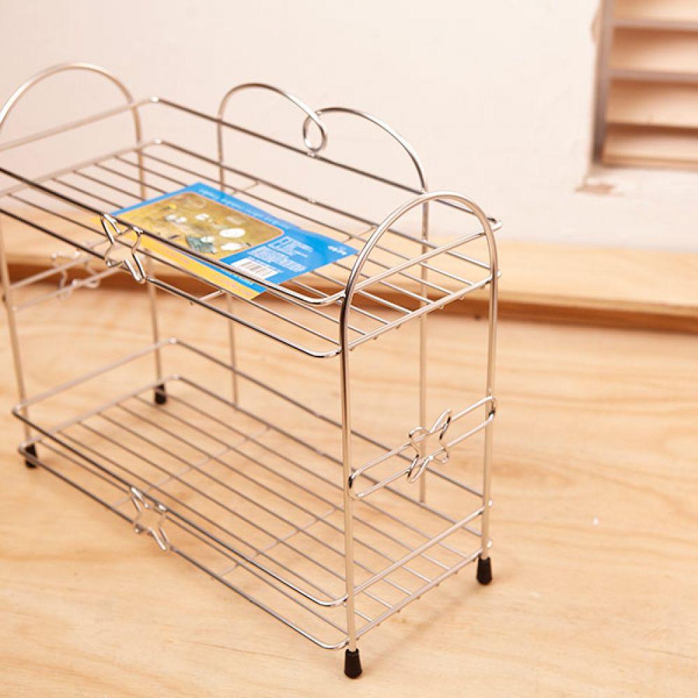 미미 테이블 선반 소 2단 주방용품 스텐선반 수납장 선반 주방용품 스텐선반 수납장 다용도선반
